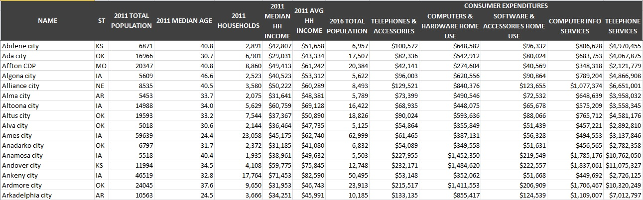 Consumer Expenditures